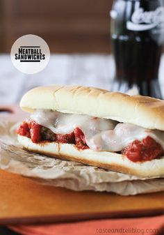 Meatball Sandwiches – Homemade meatballs served on sandwich rolls and covered in marinara. Top with cheese for a filling recipe that the kids will love.