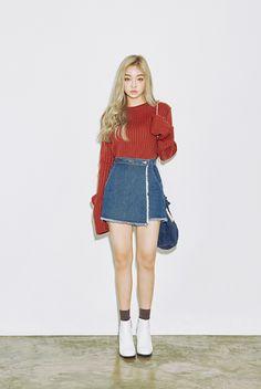 awesome Длинные и короткие джинсовые юбки (50 фото) — Модные тенденции 2017 Читай больше http://avrorra.com/dzhinsovye-yubki-foto-modnye-tendencii/