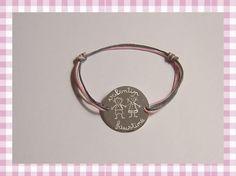 Bracelet médaille gourmette GM gravée