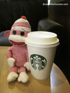 Lil' Squirt gets his Starbucks fix in Shanghai