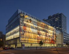 Harlem Hospital Center Modernization   New York, New York, USA   A light-filled atrium and a dramatic, five-story, historically significant mural welcome visitors and form a new front door to the community.
