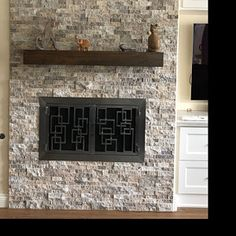 Excellent Absolutely Free distressed Fireplace Mantels Ideas Custom fireplace mantel with drop front shelf media storage Black Fireplace Mantels, Distressed Fireplace, Wood Mantels, Fireplace Ideas, Wood Fireplace, Wood Brackets, Media Storage, Wood Beams, Hidden Storage