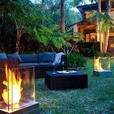 Windlichte Kerzenhalter Fackeln-moderne Gartengestaltung