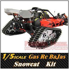 Rovan 1/5 SCALE Gasoline Engine Remote control CNC Snowcat, BaJa 5B ,RC Car/Truck ,Free Shipping