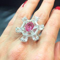 Beautiful Pink Sapphire ring by @formsjewellery #hkfair #formsjewellery