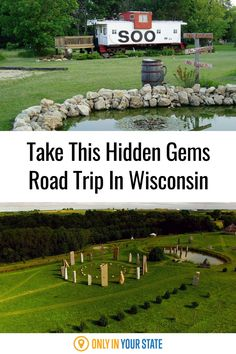 From charming train car cabins to a local version of Stonehenge, discover the best, most beautiful, and most unique hidden gems in Wisconsin on this road trip. Fountain City, Best Bucket List, Rock Springs, Usa Trip, Hidden Beach, Train Car, Stonehenge, Haunted Places, Natural Wonders