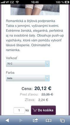 Prehľadný detail produktu umožnuje aj ľahký výber variánt. Veľké tlačítko Do košíka umožní ľahší nákup. Internetové stránky s mobilnou verziou - http://www.biznisweb.sk/