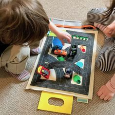 Vroom.. this Travel Play Mat features 3 spectacular pop-up segments and 4 interactive play stations to spark a Toddlers creativity. Super fun and travel-friendly this fold up quiet book activity mat is perfect for boys and girls age 2 to 5 and makes a great Birthday gift. Includes:❤︎ Pop-Up Freestanding Overpass❤︎ Po