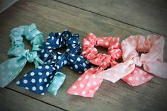 Polka Dot Ponytail Holders - Dreamy colors