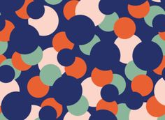 Hot Spot 2 by Megan Carter  - COLOURFUL HOT SPOT DESIGN TO SIT WITH THE STRONG SPOTTED TREND FOUND ON THE SS17 CATWALKS.  - ILLUSTRATOR LAYERED FILE IN SEAMLESS REPEAT TILE