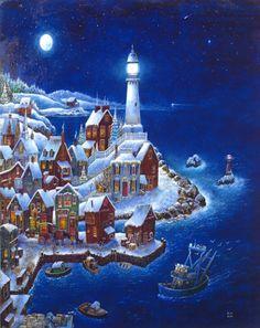 Night Light by Bill Bell ~ lighthouse
