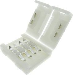 MUFA IMBINARE BANDA LED 5050 RGB 14.4W simplu de utilizat care imbina doua benzi LED RGB.  Facil de conectat, fara alte operatiuni tehnice sau electrice suplimentare. Grad de protectie IP20, pentru folosirea la interior.