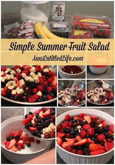 Simple Summer Fruit Salad  - A terrific blend all your summer favorite fruits, this Simple Summer Fruit Salad is colorful, delicious, and lasts and lasts! Deliciously sweet, your friends and family will enjoy every mouthwatering bite.    http://www.annsentitledlife.com/laugh-for-today/laugh-for-today-291/