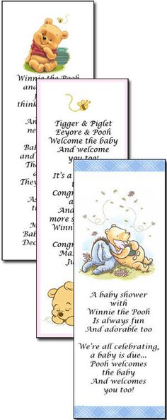 Image detail for -Personalized Winnie the Pooh Bookmarks Design Choices
