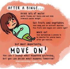 Don't fret the binge or cheat - just move on!