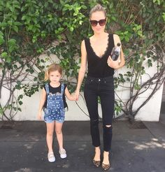 """4,192 Likes, 38 Comments - ANINE BING (@aninebing) on Instagram: """"Hanging with my sweet girl today. The top & shoes I'm wearing are on sale right now. Check them…"""""""