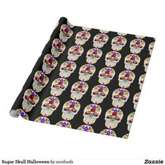 Sugar Skull Halloween Wrapping Paper