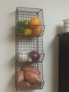 Rustic Industrial Wall Mount General Store Multi-Bin Storage Basket Rack