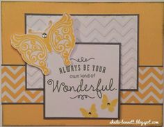 Always be your own kind of wonderful card | Handmade cards | Pinterest