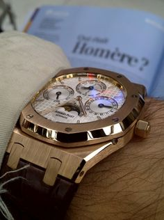 The Royal Oak Perpetual Calendar in rose gold. Quantieme Perpetuel, even the name is beautiful.