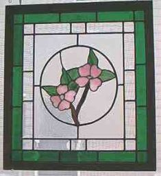 Custom Stained Glass Dogwood Flower Hanging
