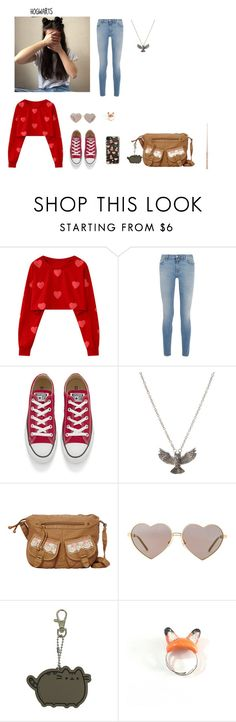 """""""Cassy"""" by beautiful-rainbow-sz ❤ liked on Polyvore featuring Givenchy, Converse, ASOS, T-shirt & Jeans, Wildfox, Pusheen and Casetify"""