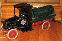 1926 Buddy L Oil and Sprinkler Truck