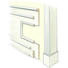 Originally functional as well as a decorative molding idea, wainscoting covers only part of a wall. High wainscoting covers two-thirds and low wainscoting goes about halfway up the wall or lower, often to chair rail height.
