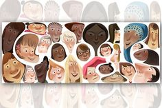 Why Is There An International Women's Day But Not An International Men's Day? Sorry, dudes, today just isn't your day. Google Doodles, Les Doodle, Doodle Art, Women's Day Logo, International Womens Day March 8, Web Design, Graphic Design, Concept Art World, Illustration
