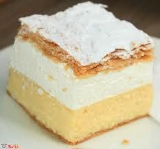 Delicious #kremsnita - if you visit #LakeBled you have to try the Cream Cake.