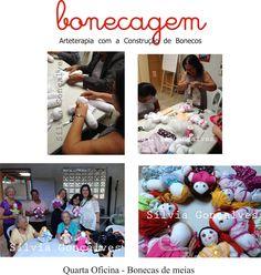 Oficina realizada no Centro de Convivência de Idosos com a criação de bonecas