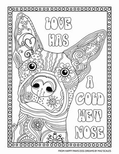 Dog Adult Coloring Book Lovely Pin by Kimberly Bera On Doodling and Watercolor Chien adulte livre de Farm Animal Coloring Pages, Abstract Coloring Pages, Dog Coloring Page, Easy Coloring Pages, Printable Adult Coloring Pages, Doodle Coloring, Mandala Coloring Pages, Coloring Books, Free Coloring