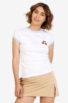 90er Jahre Vintage Cherry RINGER T-Shirt von EchoClubHouse auf Etsy