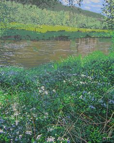 "Saatchi Art Artist Malcolm Warrilow; Painting, ""The River Bank  (original sold)"" #art"