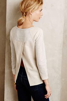 Pieced-together sweatshirt.