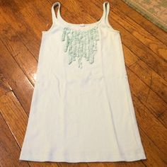 J.Crew mint ruffle tank So cute! Can be dressed up as a camisole for work, or worn casually with shorts or a cute skirt in the summer! Like new! Washed and never worn! J. Crew Tops Tank Tops