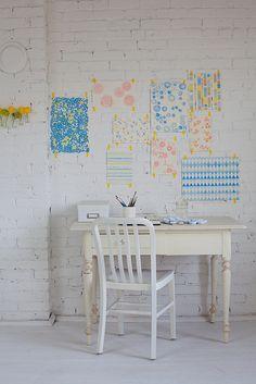para decorar la pared: artistico y personal