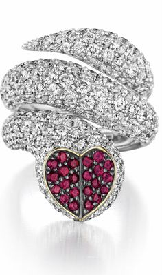 A Diamond and Ruby 'Cuore' Ring by Enigma