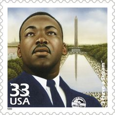 Martin Luther King stamp.