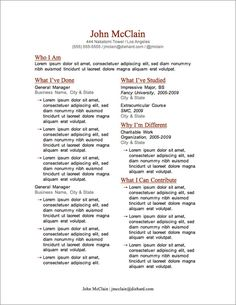 Resume Templates Free Download   Free Resume Templates  Free