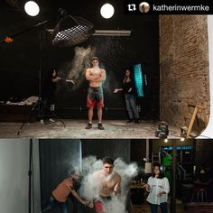 Behind the scenes by @katherinwermke   Fun sports session with the best students and models! Thanks guys! @aleix93 @alvarofr96 @foto.elisava . Instructor @katherinwermke #crossfit #sports #fitness #studiosession #barcelonaphotographer #elisava #profotolig