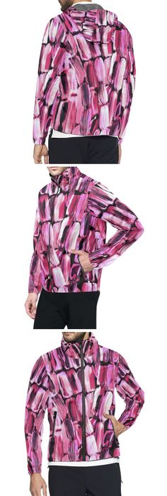 Caribbean colorful Spring Pink and White and Ultraviolet Lavender All Over Print Windbreaker for Men (Model H23 ) Fashion Designs like this jacket by @anoellejay Alicia Jones and @artsadd   Brooklyn artist featuring Environmental Beach Ocean Caribbean African designs / Go running in a design that has meaning even in the rainy cloudy weather / Also buy this artwork on other home products and accessories http://m.artsadd.com/store/anoellejay?sort=newest?rfsn=714731