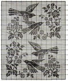 Crochet Curtains Archives - Page 12 of 14 - Beautiful Crochet Patterns and Knitting Patterns Filet Crochet Charts, Crochet Motifs, Crochet Cross, Crochet Diagram, Knitting Charts, Crochet Doilies, Crochet Stitches, Knitting Patterns, Crochet Edgings