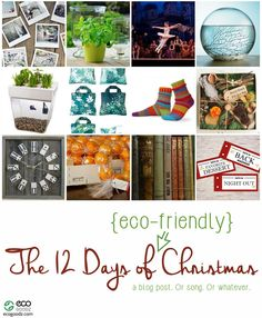The 12 Days of Eco Friendly Christmas, a blog post by EcoGoodz, a Wholesale used clothing supplier in the USA