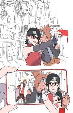 Naruto Uzumaki Shippuden, Naruto Kakashi, Anime Naruto, Naruto Shippuden Characters, Naruto Fan Art, Naruto Comic, Sarada Uchiha, Naruto Cute, Otaku Anime