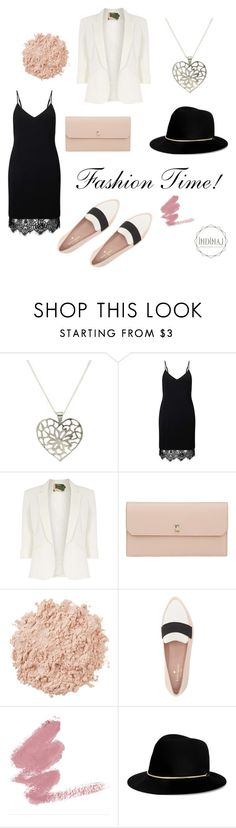 """""""Fashion time by Indimaj. Pink and black items"""" by indimajjewelry on Polyvore featuring Miss Selfridge, Jolie Moi, Valextra, La Mer, Kate Spade and Janessa Leone"""