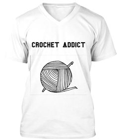 Perfect t-shirt for any crochet addict in your life.  Shirt features a ball of yarn and crochet hook graphic.  Several colors available.  Also, available in a racer back tank.