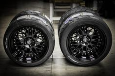 The wheels chosen for proper fitment with the Rocket Bunny aero.  CCW LM20s.  Specs: Fronts are 18x10 and Rears are 18x12.  Faces are painted satin black, lips are painted gloss black w/ clear powdercoating, centercaps are anodized black and bolts are polished.  Photo by Jonathan Dehate at CCW.