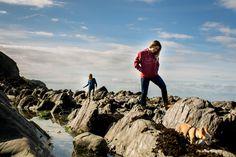 Saltrock Autumn Winter 2016 collection being shot at Lee Bay, Devon