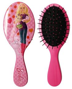 Pink Barbie Love Large Round Bristled Hair Brush * Click image for more details.(This is an Amazon affiliate link and I receive a commission for the sales)